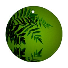 Leaf Round Ornament (Two Sides)