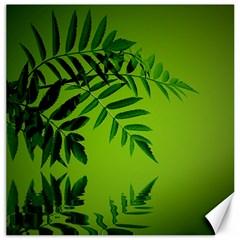 Leaf Canvas 20  X 20  (unframed)