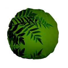 Leaf 15  Premium Round Cushion