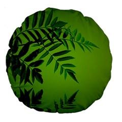 Leaf 18  Premium Round Cushion