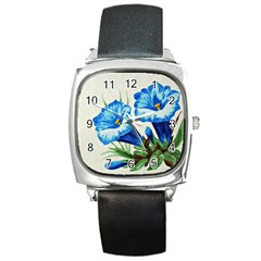 Enzian Square Leather Watch