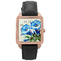 Enzian Rose Gold Leather Watch