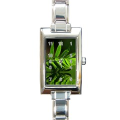 Leaf Rectangular Italian Charm Watch