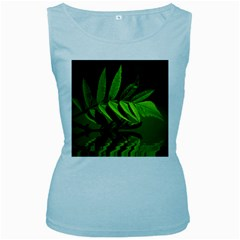 Leaf Womens  Tank Top (baby Blue)