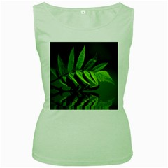 Leaf Womens  Tank Top (Green)