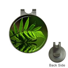 Leaf Hat Clip with Golf Ball Marker