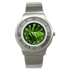 Leaf Stainless Steel Watch (Unisex)