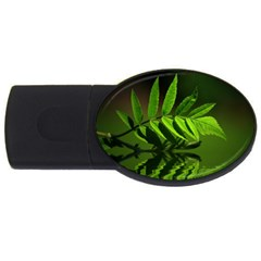 Leaf 4GB USB Flash Drive (Oval)