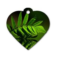 Leaf Dog Tag Heart (One Sided)