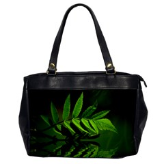 Leaf Oversize Office Handbag (One Side)