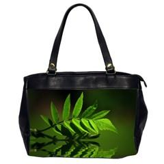 Leaf Oversize Office Handbag (two Sides)