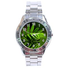 Leaf Stainless Steel Watch (men s)