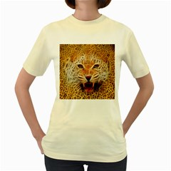 Jaguar Electricfied  Womens  T Shirt (yellow)