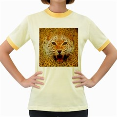 Jaguar Electricfied Womens  Ringer T Shirt (colored)