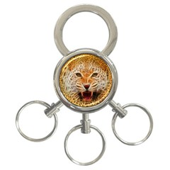 Jaguar Electricfied 3 Ring Key Chain