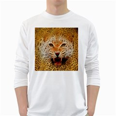 Jaguar Electricfied Mens' Long Sleeve T-shirt (White)