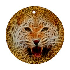 Jaguar Electricfied Round Ornament (two Sides)