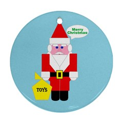 Santa Round Ornament (two Sides)