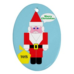 Santa Oval Ornament (Two Sides)