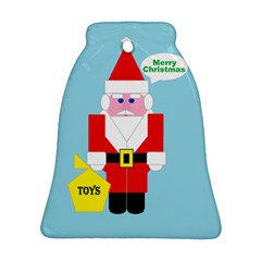 Santa Bell Ornament (Two Sides)