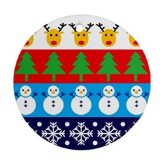 Winter Christmas Round Ornament (Two Sides)