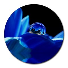 Waterdrop 8  Mouse Pad (Round)