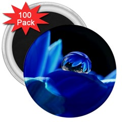 Waterdrop 3  Button Magnet (100 pack)