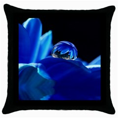 Waterdrop Black Throw Pillow Case