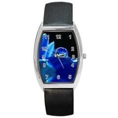 Waterdrop Tonneau Leather Watch