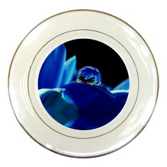 Waterdrop Porcelain Display Plate
