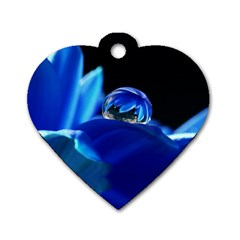 Waterdrop Dog Tag Heart (One Sided)