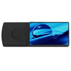 Waterdrops 4GB USB Flash Drive (Rectangle)