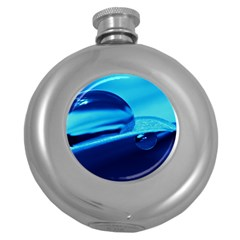 Waterdrops Hip Flask (Round)