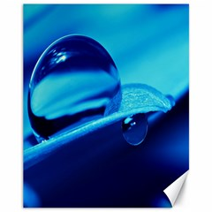 Waterdrops Canvas 11  x 14  (Unframed)