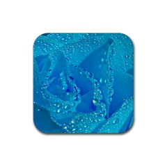 Blue Rose Drink Coaster (Square)