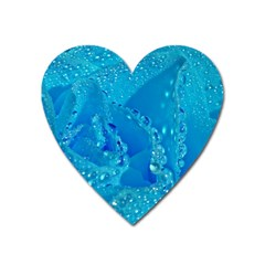 Blue Rose Magnet (heart)