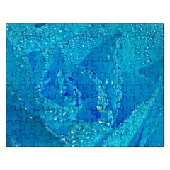Blue Rose Jigsaw Puzzle (Rectangle)