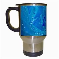 Blue Rose Travel Mug (white)