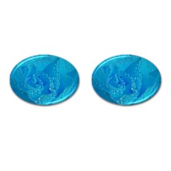 Blue Rose Cufflinks (Oval)