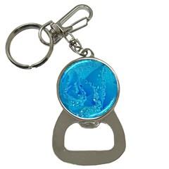 Blue Rose Bottle Opener Key Chain