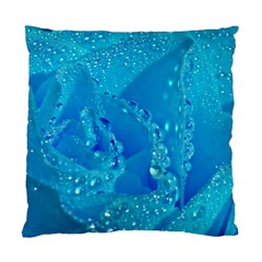 Blue Rose Cushion Case (Two Sided)