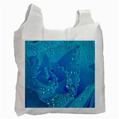 Blue Rose Recycle Bag (two Sides)