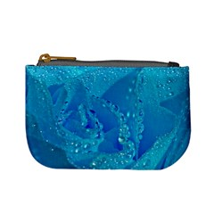 Blue Rose Coin Change Purse