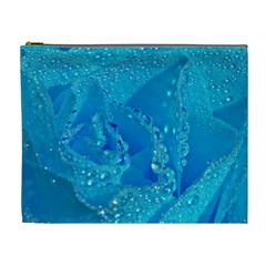 Blue Rose Cosmetic Bag (XL)