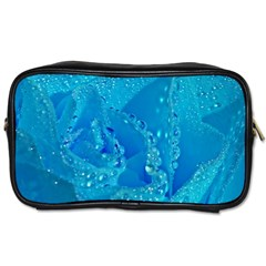 Blue Rose Travel Toiletry Bag (one Side)