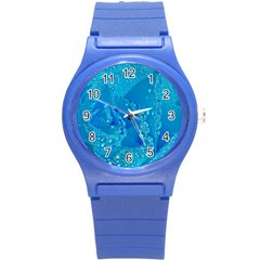 Blue Rose Plastic Sport Watch (small)