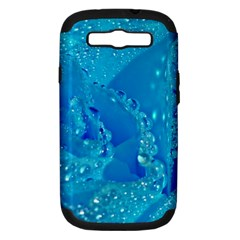 Blue Rose Samsung Galaxy S III Hardshell Case (PC+Silicone)