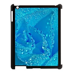 Blue Rose Apple Ipad 3/4 Case (black)