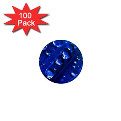Waterdrops 1  Mini Button Magnet (100 pack)
