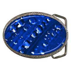 Waterdrops Belt Buckle (oval)